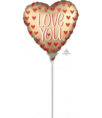 """38809 Satin Love You Gold (4"""")"""