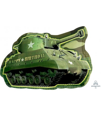 A114321 Army Tank Birthday - SuperShape