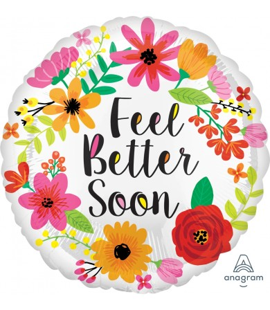 "35499 Feel Better Soon Floral Wreath (18"")"