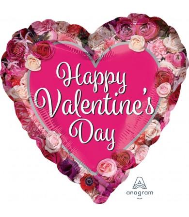"36432 Happy Valentine Day Rose Border (18"")"