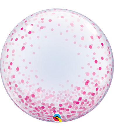 "57790 Pink Confetti Dots [Bubbles Balloon] (24"")"