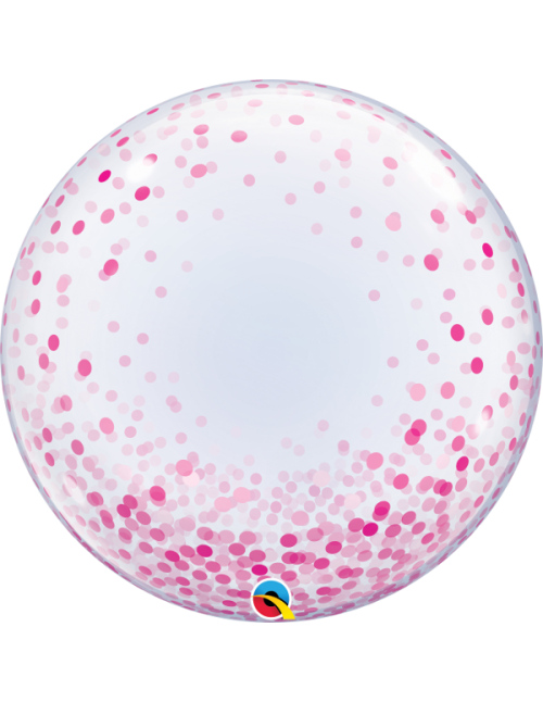 "57790 Pink Confetti Dots [Bubbles Balloon] (24"")"