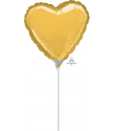 """16147 Gold Heart (9"""")"""