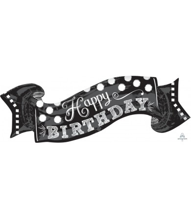 "30931 Black & White Chalkboard Birthday (40"")"