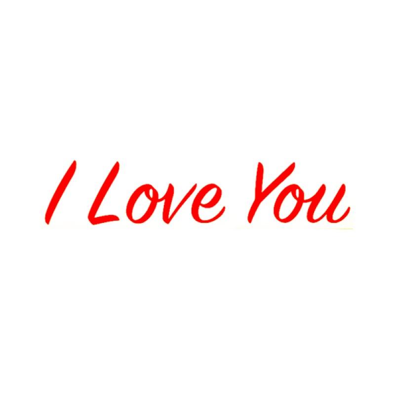 Sticker - I Love You ( Small ) - 1pc