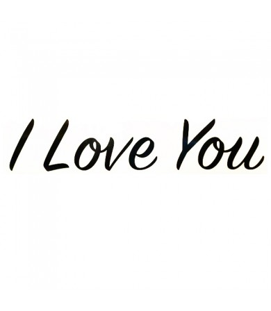 Sticker - I Love You ( Big ) - 1pc