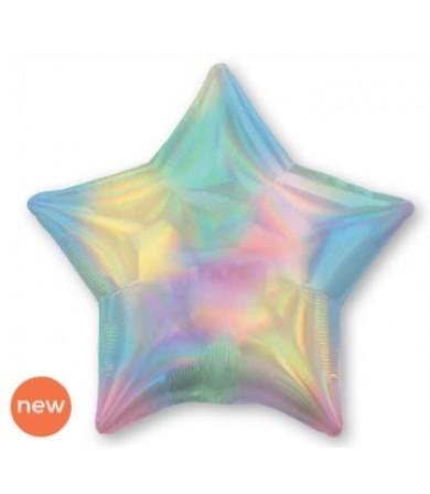 "39407 Iridescent Pastel Rainbow Star (19"")"