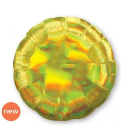"39254 Iridescent Yellow Circle (18"")"