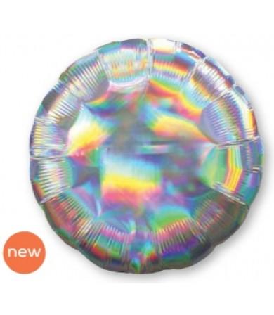 "39258 Iridescent Silver Circle (18"")"