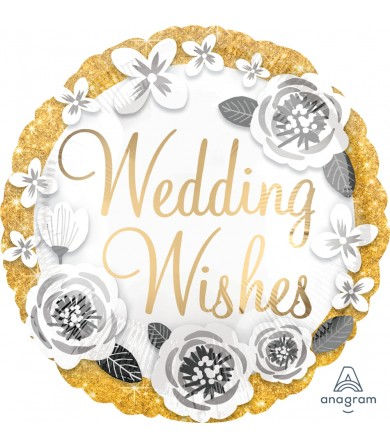 "38174 Wedding Wishes Gold & Silver (18"")"