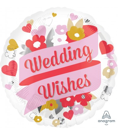 """35185 Wedding Wishes Floral (18"""")"""