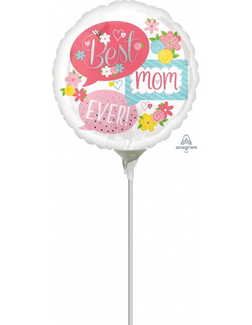 """37085 Best Mom Ever Bubbles (4"""")"""