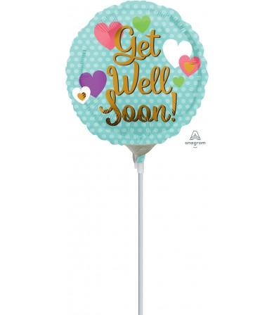 """35496 Get Well Soon Hearts (4"""")"""