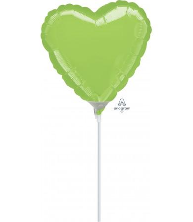 "16411 Lime Heart (9"")"