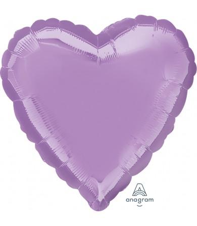 """22447 Pearl Lavender Decorator Heart (18"""")"""