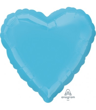 "23018 Caribbean Blue Decorator Heart (18"")"