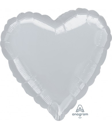 "11115 Metallic Silver Heart (32"")"