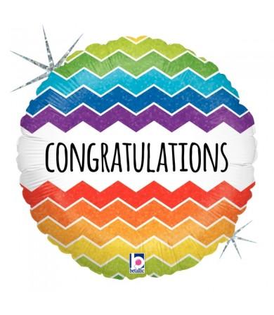 """36172P - Chevron Congratulations (18"""")"""