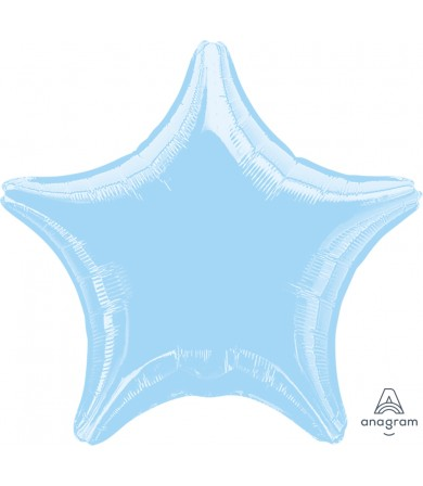 "07126 Metallic Pearl Pastel Blue Decorator Star (19"")"