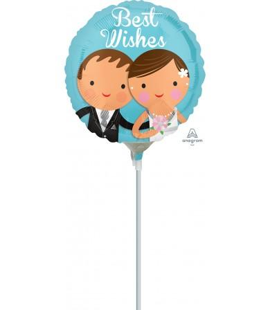 "35215 Best Wishes Wedding Couple (4"")"