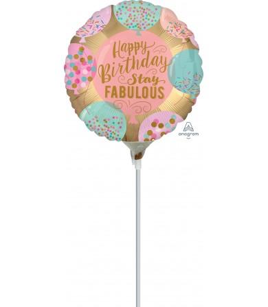 "39063 Happy Birthday Stay Fabulous (9"")"