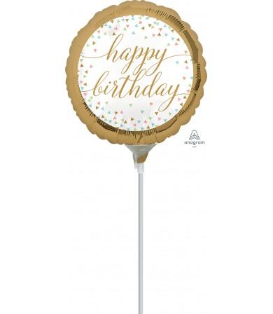 "37185 Pastel Confetti Happy Birthday (9"")"
