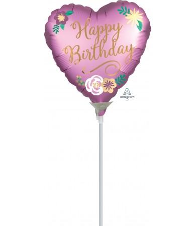 "39067 Birthday Satin Flowers (9"")"