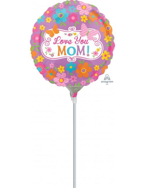 """32476 Love Mom Flowers & Butterflies (9"""")"""