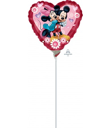 "23049 Mickey & Minnie Heart (9"")"