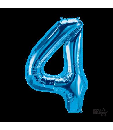 """34"""" Number """"4"""" Blue"""