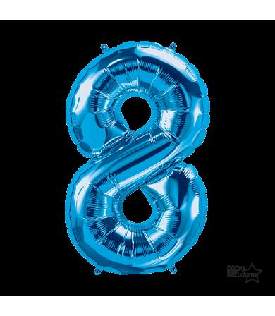 """34"""" Number """"8"""" Blue"""
