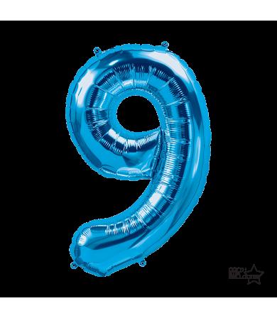 """34"""" Number """"9"""" Blue"""