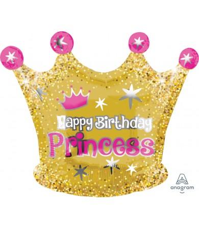 35663 Happy Birthday Gold Crown - Junior Shape