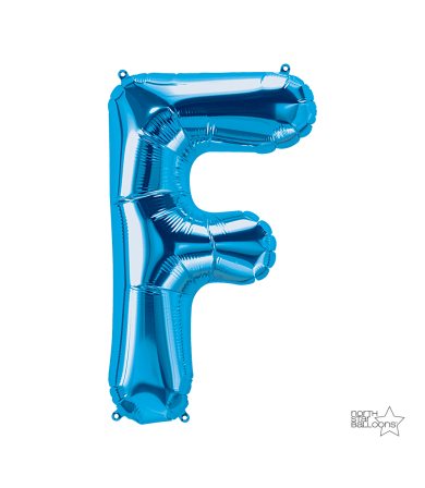 """00279 - 34"""" Letter """"F"""" (Blue)"""