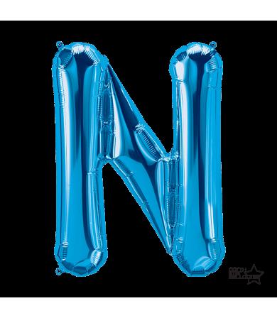 """00287 - 34"""" Letter """"N"""" (Blue)"""