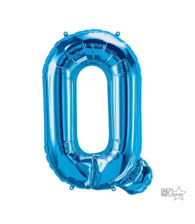 """00290 - 34"""" Letter """"Q"""" (Blue)"""