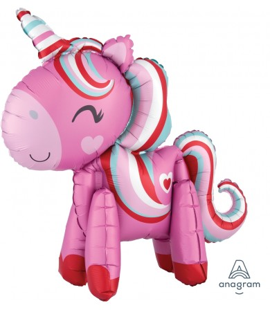 38762 Standing Magical Love Unicorn - Multi Balloon