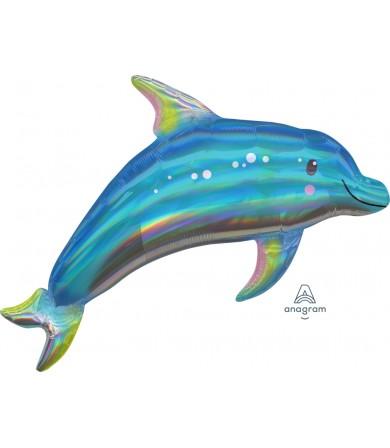 39376 Iridescent Blue Dolphin - SuperShape