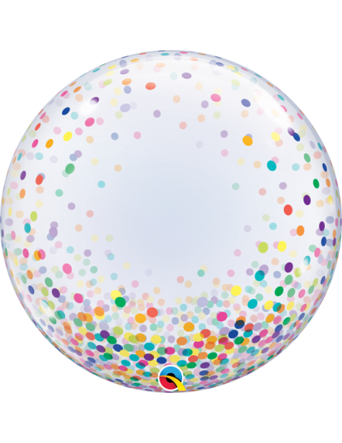 "57791 Colorful Confetti Dots [Bubbles Balloon] (24"")"