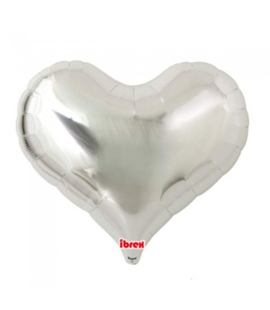"7505 Jelly Heart - Metallic Silver (25"")"