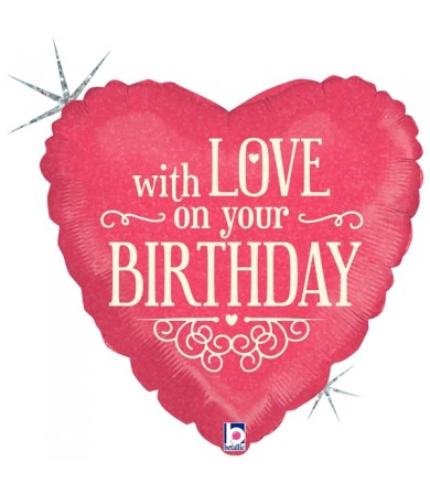 """36149P - With Love on Your Birthday (18"""")"""