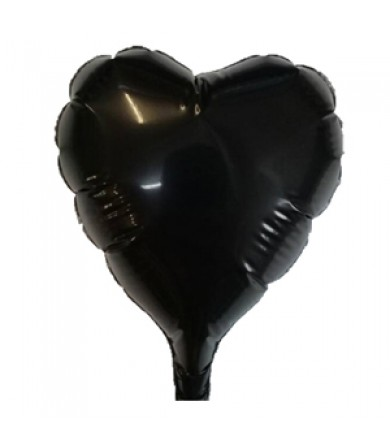 1614 - Heart Black 80mm