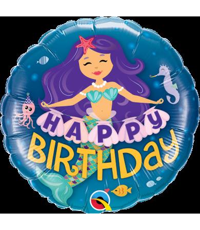 "57799 - Happy Birthday Mermaid (18"")"