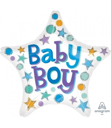 "33641 Baby Boy Star (18"")"