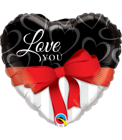 """21647 Love You Red Ribbon (18"""")"""