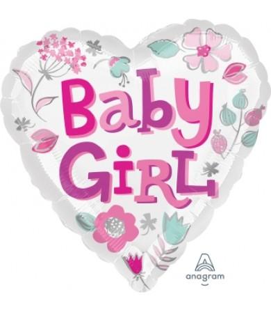 "33639 Baby Girl Heart (18"")"
