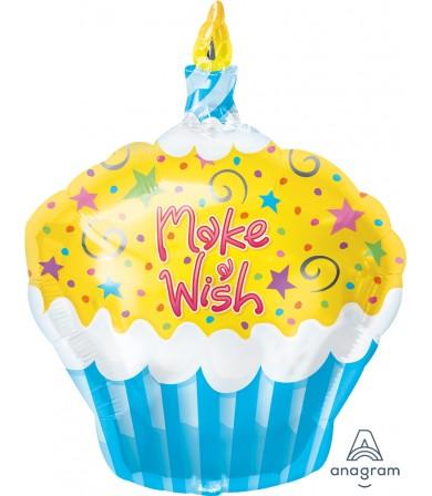 "12684 Make A Wish Cupcake (18"")"