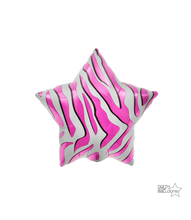 "00761 - Pink Zebra Star (9"")"