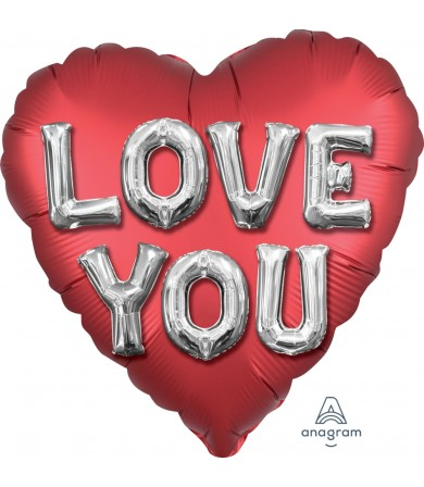 "38737 Satin Love You Balloon Letters (18"")"