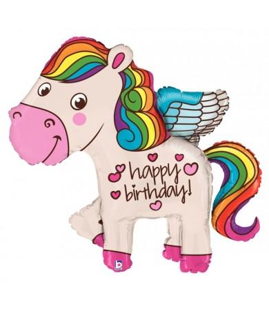 """35140P - Rainbow Birthday Pony (45"""")"""